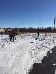 Благоустройство территории посёлков в марте 2018г.